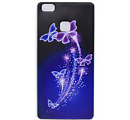 TPU Transparent Thin Butterfly for  Huawei P9/P9 Lite