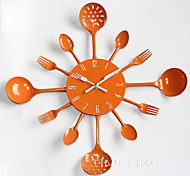 Modern Design Metal Kitchen Cutlery Utensil Wall Clock Spoon Fork Ladel Home Christmas Decor A great gift Colorful