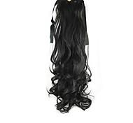 lunghezza 55 centimetri parrucca nera coda di cavallo pearvolume sintetica ad alta temperatura del filo di colore 2