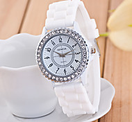Women's Watch Fashion Diamond Case Silicone Strap Cool Watches Unique Watches