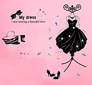 Creative Fashion Black Dress/Sunglasses/Handbag Wall Stickers DIY Wall Decals