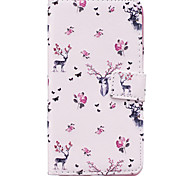 Deer Pattern PU Leather Material Phone Case for Huawei Ascend P9 Lite/ P9