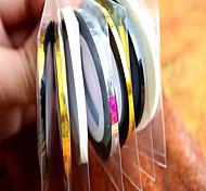 1pcs 3mm 20m Nail Art  Stripe Tape Line Sticker Nail Art Beauty Decoration Tools Random Delivery NC124