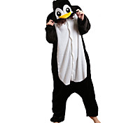 Kigurumi Pajamas Penguin Leotard/Onesie Halloween Animal Sleepwear Black Patchwork Polar Fleece Kigurumi Unisex Halloween / Carnival