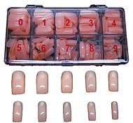 500 шт Fleshcolor ложные полные советы ногтей покрыть украшение для пальца акриловых советы