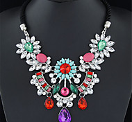 Necklace Statement Necklaces Jewelry Wedding / Party / Daily Fashion Alloy Rose / Black / White / Red 1pc Gift