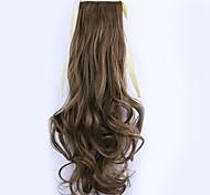 longitud 50 cm borwn fábrica de la venta directa de tipo cola de caballo se unen rizo de pelo cola de caballo (color 12/24)