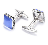 Men's Fashion Blue Crystal Alloy French Shirt Cufflinks (1-Pair)
