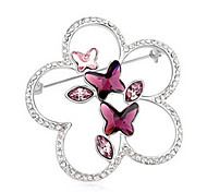 alta qualidade broche de cristal borboleta para a senhora festa de casamento