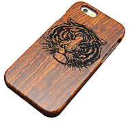 Para Funda iPhone 5 En Relieve Funda Cubierta Trasera Funda Fibra de Madera Dura Madera Apple iPhone SE/5s/5