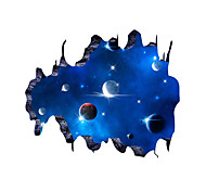 3D Wall Stickers Wall Decals Style Galactic Space PVC Wall Stickers