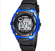 Kids' Sport Watch Wrist watch Digital LCD Calendar Chronograph Water Resistant / Water Proof Alarm Luminous Rubber Band Black Brand SYNOKE