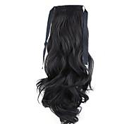 золотой длина 50см завод прямые продажи связать тип локон хвощ волос хвостик (цвет 99j)