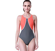 SBART® Women's Swimwear Stretch / Compression One Piece Adjustable Adjustable Gray / Black