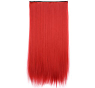 Red Length 70CM Synthetic Receiving a chip curling hair straight hair pills(Color 130M)