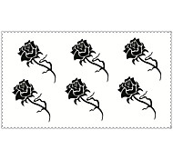 Fashion Temporary Tattoos Rose Sexy Body Art Waterproof Tattoo Stickers (Size: 2.36'' by 4.13'')