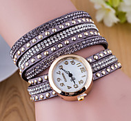 Velvet Belt Drilling Circle Table Ladies Fashion Rivet Watches