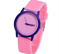 Men's Women's Unisex Fashion Watch Quartz Silicone Band Green Pink