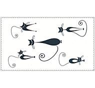 Fashion Temporary Tattoos Cat Sexy Body Art Waterproof Tattoo Stickers 5PCS (Size: 2.36'' by 4.13'')