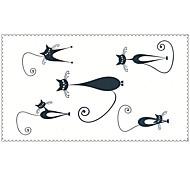 мода Временные татуировки кошки сексуальное боди-арт водонепроницаемый наклейки татуировки 5pcs (размер: 2,36 '' от 4,13 '')