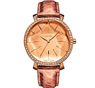 Julius®  Korea Women Fashion Watch Round Dial Quartz Watch Leather Belt Waterproof Wristwatch JA-517