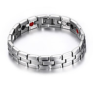 Men's Jewelry Health Care Silver Titanium Steel Magnetic Therapy Bracelet Fashion Gift Jewelry