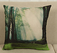 Rural Style Linen Pillowcase  Home Decor pillow Cover (18*18inch)