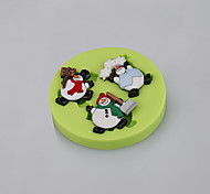Cake Tools Cartoon Snowman Christmas Fondant Silicone Mold Cake Decorating Cupcake Candy Chocolate Clay Fimo Resin