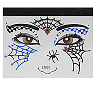Abstract Pat Nightclubs Party Red Face Sticker LT-027