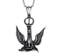 Men's Fashion Punk Style Eagle Titanium Pendant for Necklace