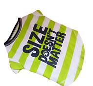 Cães Camiseta Verde Roupas para Cães Verão Zebra