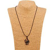 South Korea Alloy Stainless Steel Black Scorpion Pendant Necklace