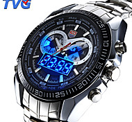 Men's Multifunctional LED Noctilucent Two Time Zones Calendar Luxury 50M Water Resistant Sports Fashion Wrist Watches(Assorted Colors) Cool Watch