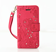 PU Leather Material Dandelion Pattern Painted Embossed Phone Case for iPhone SE / 5s / 5