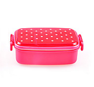 480ML Lovely Dot Single Japanese Style Lunch Box (Random Color)