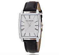 Men's Luxury Black/Brown Leather Band White Case Military Sports Style Watch Jewelry Cool Watch Unique Watch