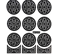 Nail Art Template Sticker-Flower Template(NF313-BLACK)