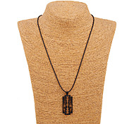 Japan Black Blade Alloy Stainless Steel Pendant Necklace
