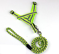 Dog Harness / Leash Reflective / Strap Red / Black / Green / Blue / Orange Nylon