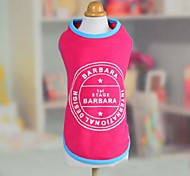 Dog Vest Orange / Yellow / Pink Dog Clothes Summer / Spring/Fall Letter & Number Casual/Daily