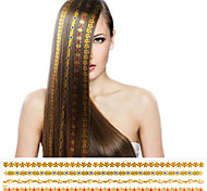 1Pcs Top Fashion New Arrival Golden  Bronzing Hair Sticker