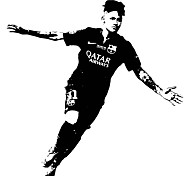 Famous Football Star Wall Decals Abstract / Sports Wall Stickers Plane Wall Stickers,vinyl 78*80cm