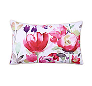 Polyester Pillow With Insert,Floral Country 12x20 inch