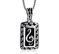 Men's Fashion Punk Style Music Pattern Pendant for Necklace