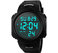 SKMEI® Men's Watch Unisex Military Sports LCD Digital Rubber Band Waterproof Watch Wrist Watch Cool Watch Unique Watch Fashion Watch