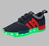 Men's Shoes Outdoor / Athletic / Casual Synthetic Fashion Sneakers Black / Blue / PinkLED shoes