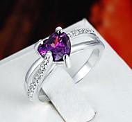 Women's Exquisite AAA Zircon Silver Plated Wedding Ring