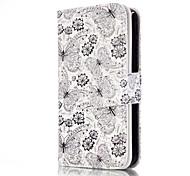 Für iPhone 5 Hülle Kreditkartenfächer / Geldbeutel / mit Halterung / Flipbare Hülle / Muster Hülle Handyhülle für das ganze Handy Hülle
