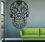 Fashion / Shapes / Abstract Skull Wall Mural/Decals Fantasy / 3D Wall Stickers Plane Wall Stickers,vinyl 58*82cm
