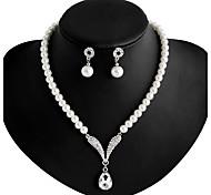 Schmuck-Halsketten / Ohrringe(Aleación / Künstliche Perle / Strass / versilbert)Hochzeit / Party / Alltag Hochzeitsgeschenke